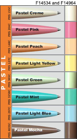 pastel barrel colors