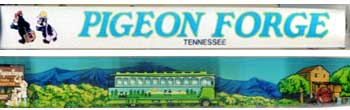 Tennessee, Pigeon Forge, trolley