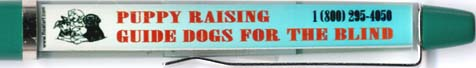 Puppy Raising Guide Dogs - backside panel