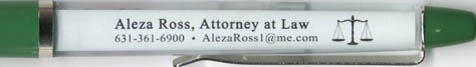 Aleza Ross, Attorney at Law - backside panel