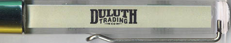 Duluth Trading Company - backside panel