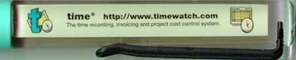 Timewatch, Ltd. -  backside panel